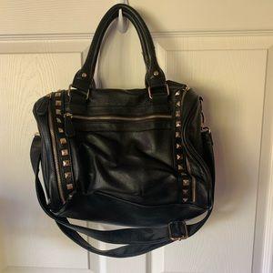 Handbags - STUDED BLACK BAG